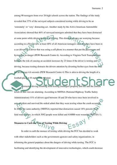 texting while driving essay example  topics and well written essays  texting while driving