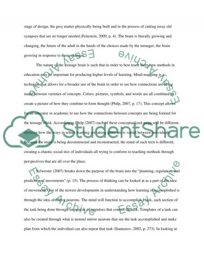 Teaching Tweens and Teens for Optimal Learning essay example