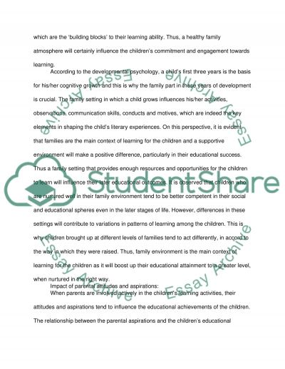 Parents Involvement in Childrens Education essay example