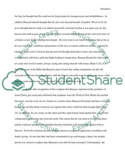 JOHN BUNYAN essay example