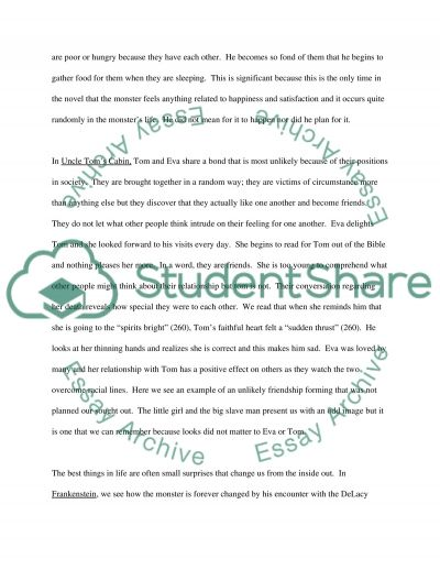 Frankenstein and Uncle Toms Cabin essay example