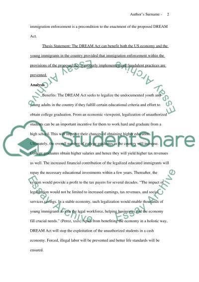 Dream act college essays