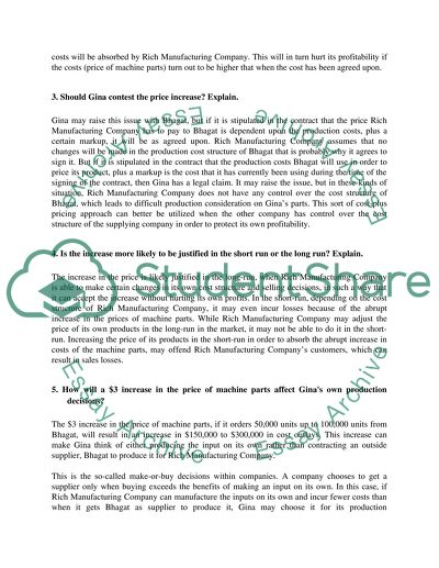 Case Study: Rich Manufacturing Essay Example | Topics and
