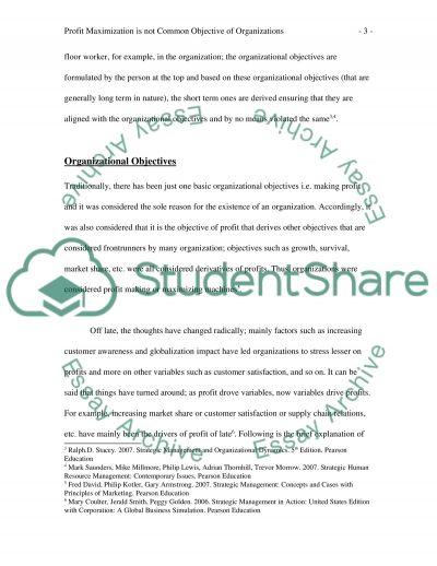 Profit Maximization College Essay essay example