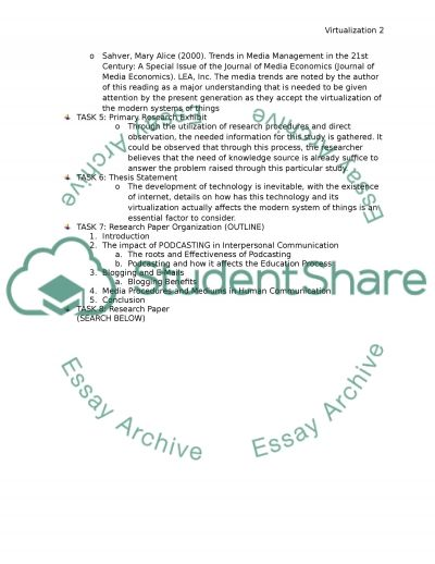 Virtualization and Computers essay example