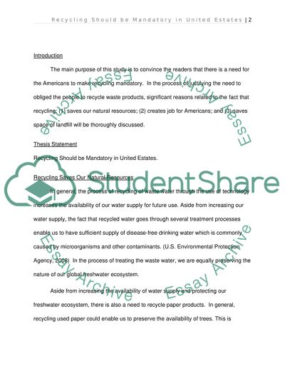 recycling essay introduction