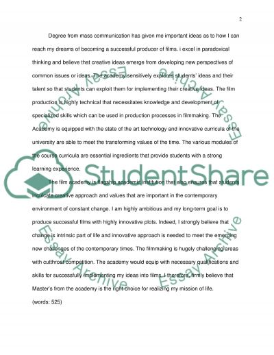 Narrative Essay on why you would like to attend a university