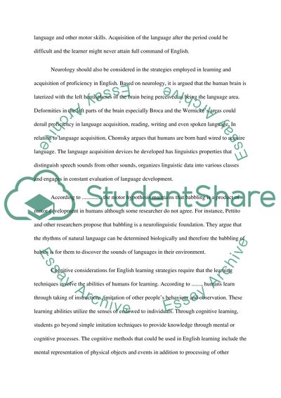 Strategies For English Learners Essay Example  Topics And Well  Strategies For English Learners