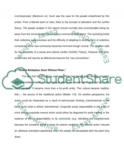 Sociological Theory Essays: #1, #2, #3 and #4 essay example