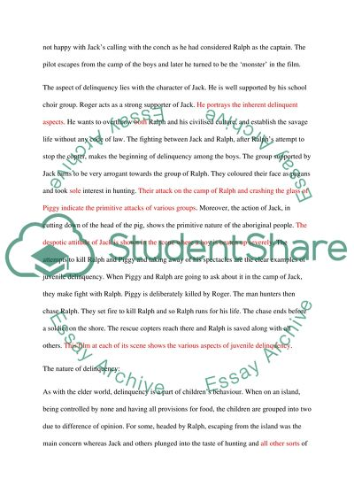 Application essay writing juvenile delinquency
