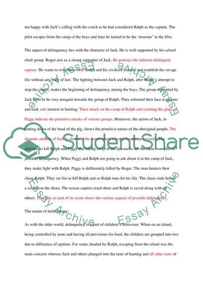 Application essay writing juvenile delinquency