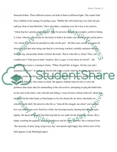 Cathers Paul and Wrights Dave essay example