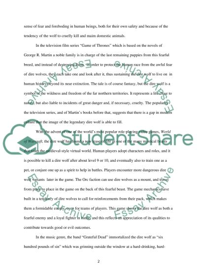 The Dire Wolf essay example