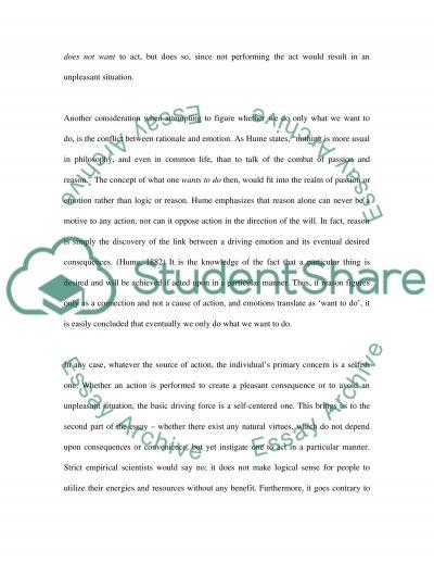 Human Behaviour essay example