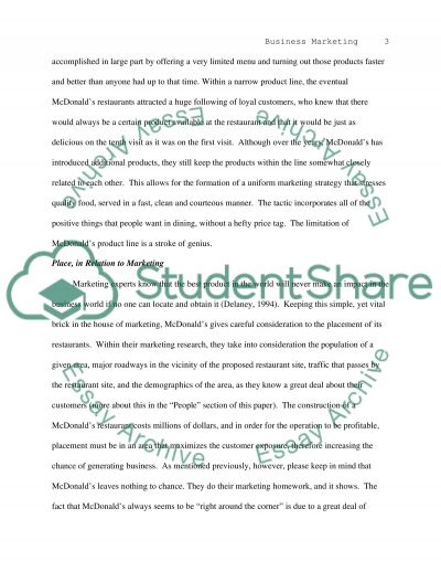 Marketing Strategy-Product, Place, Price and Promotion essay example
