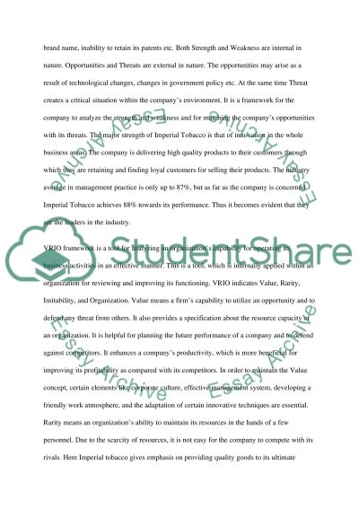 Strategic Management Case Study essay example