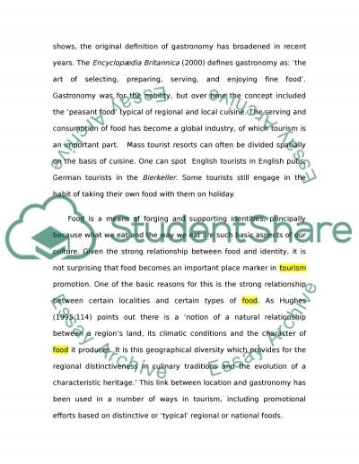 The Management and Operation of Food Services essay example