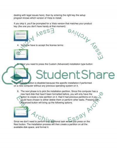 Windows Vista Installation essay example