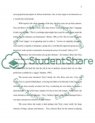Research paper on Fences by August Wilson essay example