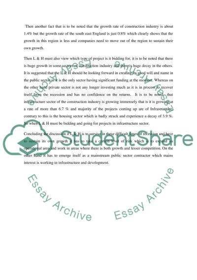 Construction and organisation management. Tendering and estimating Essay example
