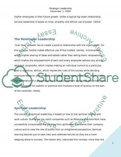 Strategic Leadership and Future Leaders (DB) essay example
