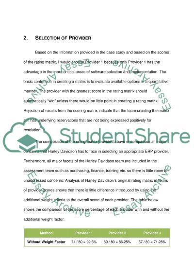 Marketing - Case Study on Harly Davidson Motor Campany essay example