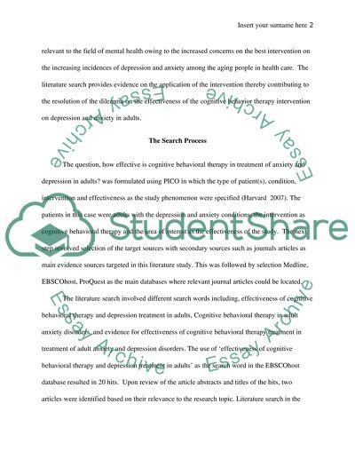 Nursing - Literature Search