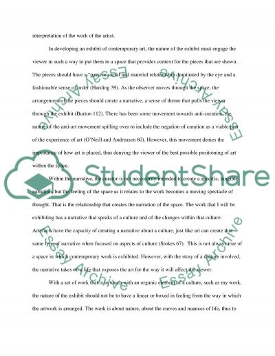 Curation Essay example