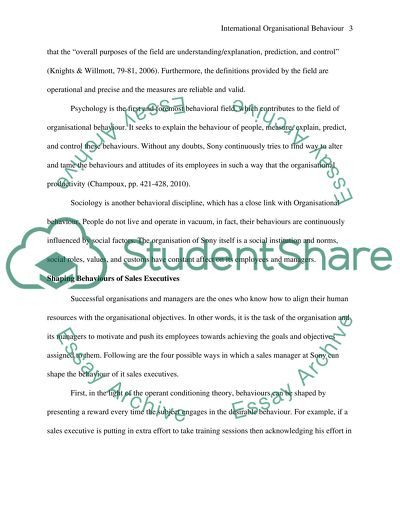 International Organisational Behaviour Essay Example  Topics And  International Organisational Behaviour Sample Essay For High School Students also Web Content Writer  Science And Society Essay