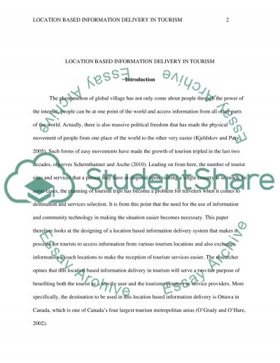 Destination Report & Presentation Research Paper example