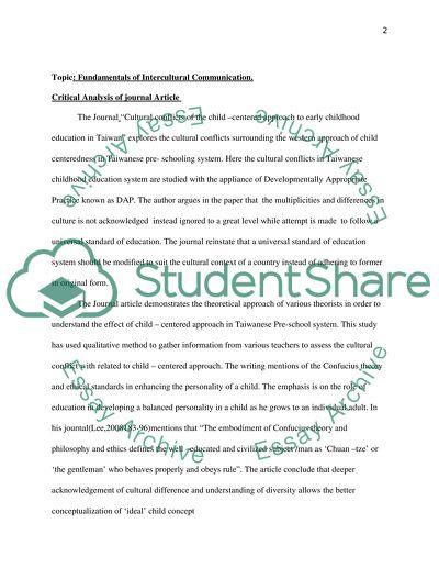 Fundamentals of Intercultural Communication