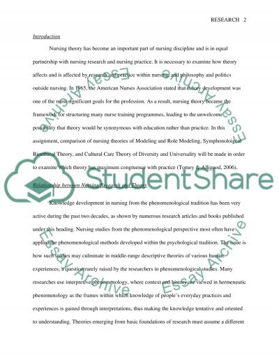 Nursing Research and Theory essay example