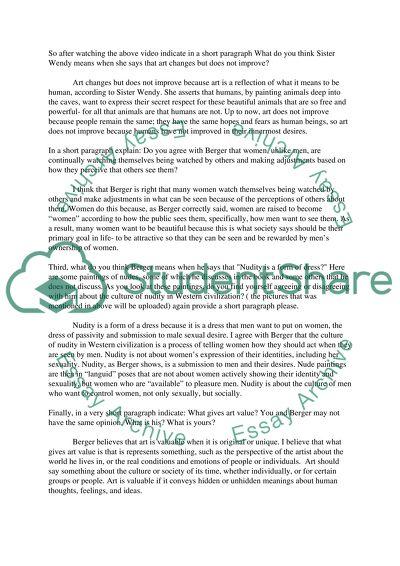Ways of seeing essay