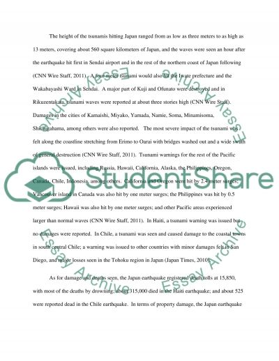Earthquake Paper essay example