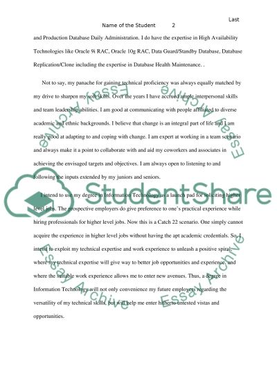 Autobiographical essay------Describe your past experiences and ...