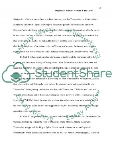 Essay with Thesis statement on the Odyssey of Homer (Bks 1-12) essay example