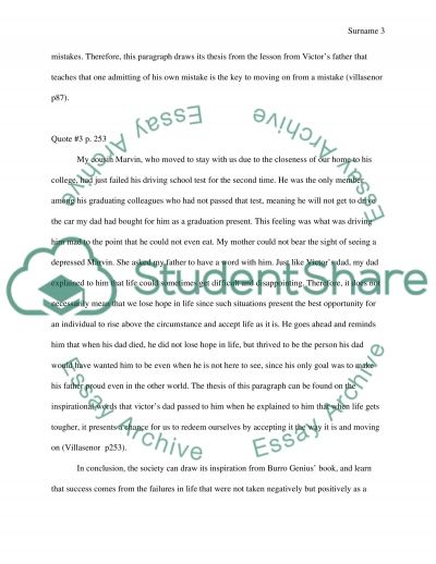 burro genius essay example topics and well written essays  text