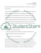 Literature Review - Transformational Leadership Essay example