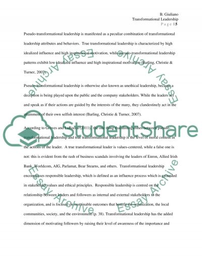 literature review transformational leadership essay text