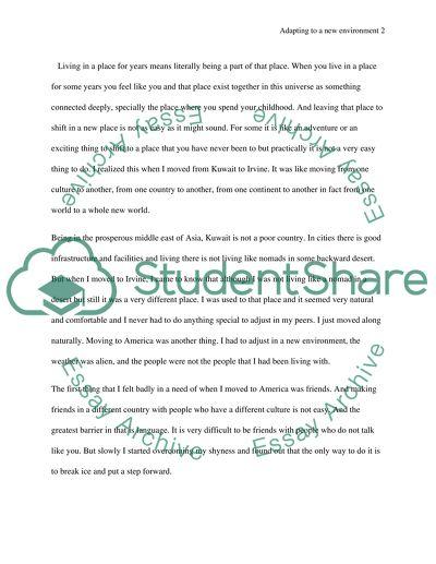 university environment essay