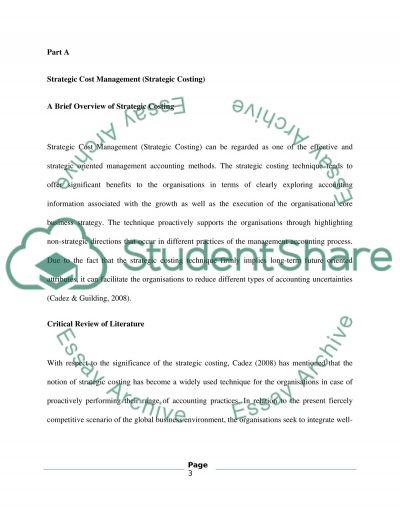 MSc Strategic Accounting essay example