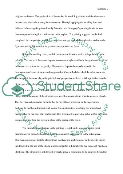 Illustration Essay Example Papers Vincent Van Goghs Starry Night English Language Essays also My School Essay In English Vincent Van Goghs Starry Night Essay Example  Topics And Well  Science Fiction Essay Topics