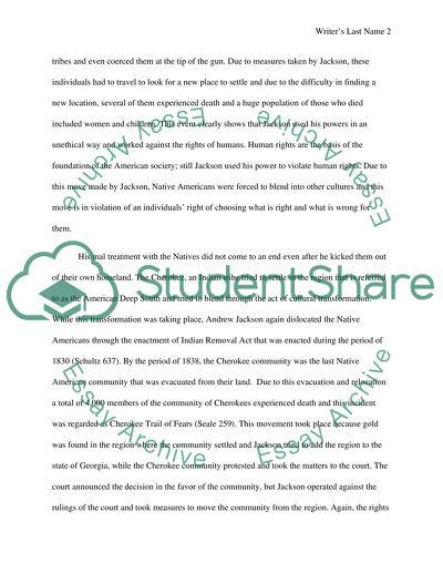 Andrew jackson term paper