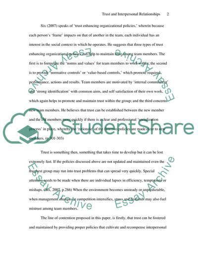A Healthy Mind In A Healthy Body Essay Trust And Interpersonal Relationships  Essay Example Essay In English also English Essays On Different Topics Trust And Interpersonal Relationships Essay Example  Topics And  Essay On English Subject
