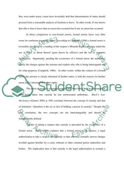 Criminal Justice Essay essay example