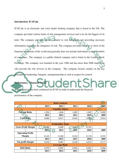 International operation and risk management of ICAP plc essay example