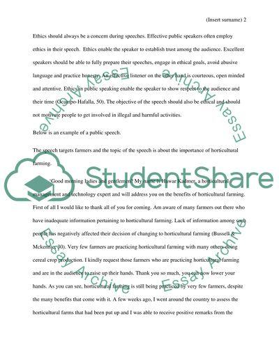Speech 1 - Speech of Introduction (2-4)