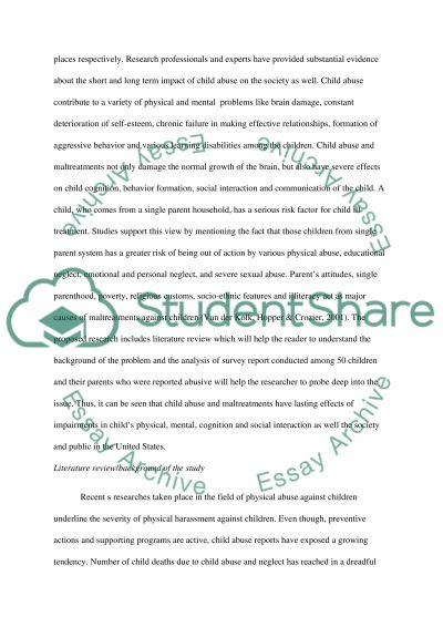 child abuse research paper example topics and well written  child abuse essay example