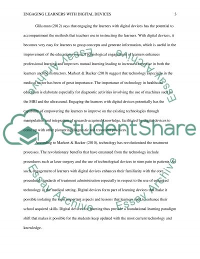 Engaging Learners with Digital Devices essay example