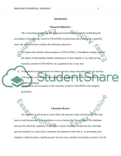 Research proposal nursing Research Proposal example